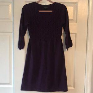 AB Studio Plum Purple Sweater Dress